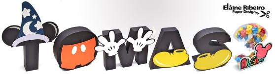 Letras 3D - Mickey